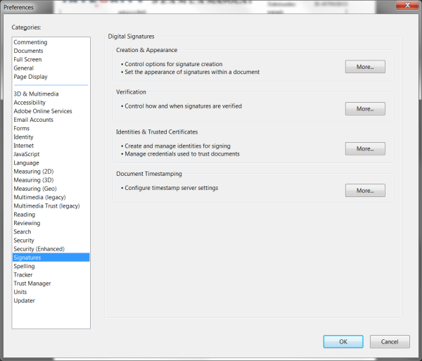 Adobe Reader Preferences