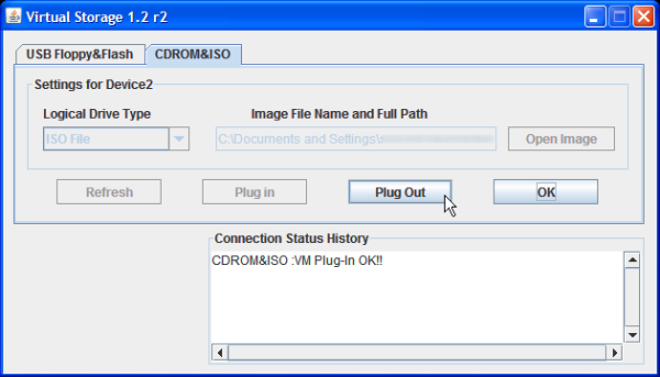 KVM virtual media használata