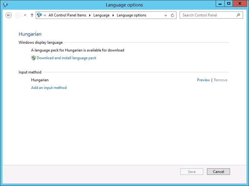 Windows Server átállítása magyar nyelvre - INTEGRITY Tudásbázis